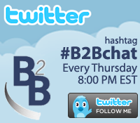 Follow #B2Bchat on Twitter