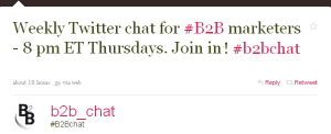 Follow B2Bchat on Twitter