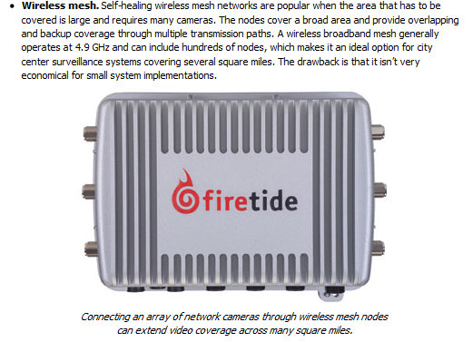 Firetide MIMO mesh node on SecurityInfoWatch.com