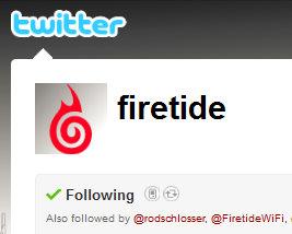 Follow Firetide on Twitter!